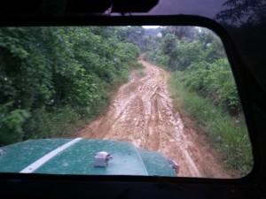 Carretera hacia San Cristobal